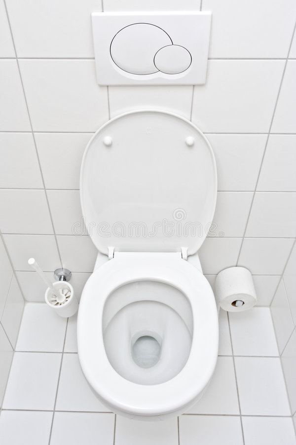 View of a toilet. A view of a toilet