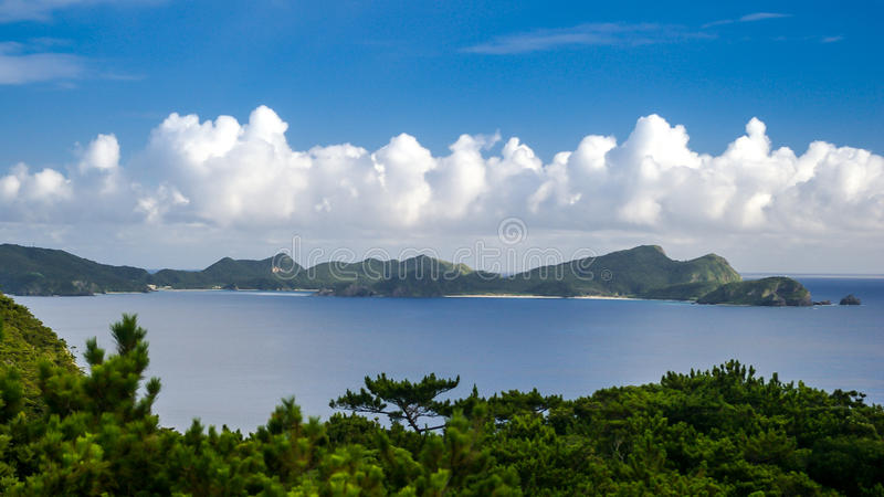 View of Tokashiki Island. A view of Tokashiki Island in Okinawa, Japan royalty free stock photos