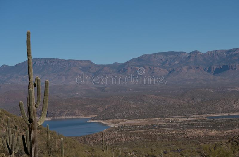 View from Tonto national Monument towards the northeast. royalty free stock images