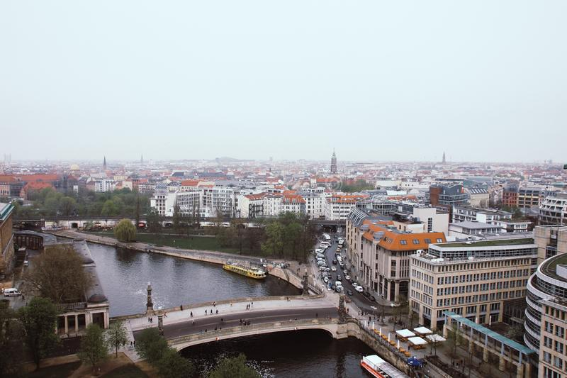 Panoramic view of Berlin royalty free stock photography