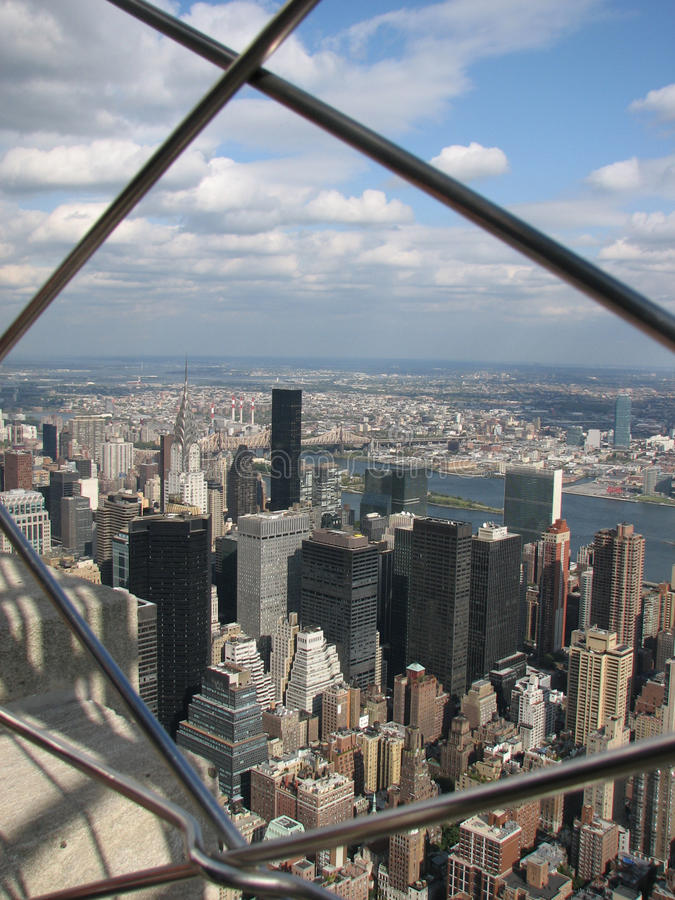 View from the top of the Empire State Building, NYC. Looking off toward the horizon from one of New Yorks tallest buildings royalty free stock images