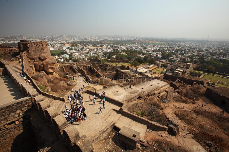 Download View From Top Of Golconda Fort, Hyderabad Editorial Photo - Image: 23853131