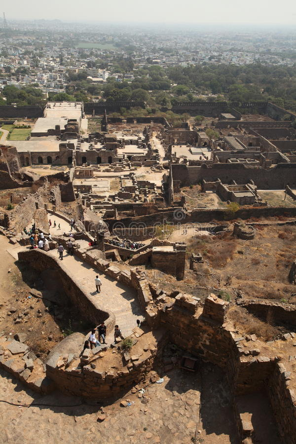 Download View From Top Of Golkonda Fort, Hyderabad Editorial Stock Image - Image: 23852264