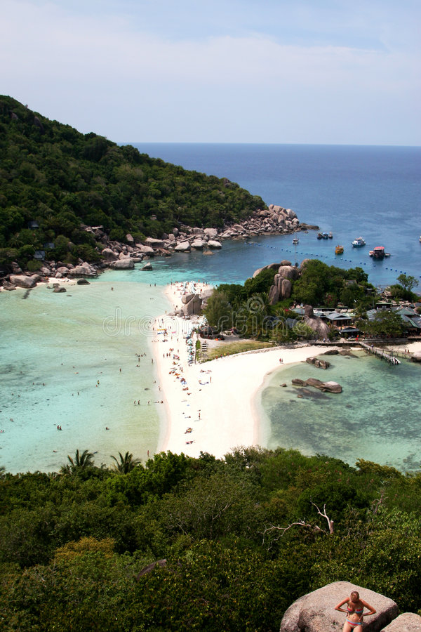 View from top of koh tao. Island in thailand royalty free stock photo