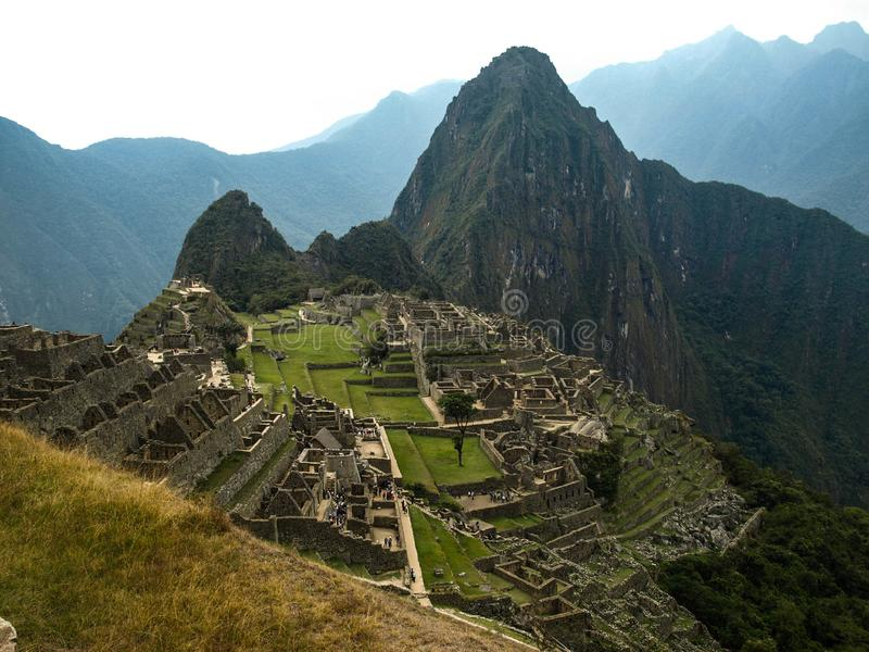 View from the top of mountain machu picchu stock photo