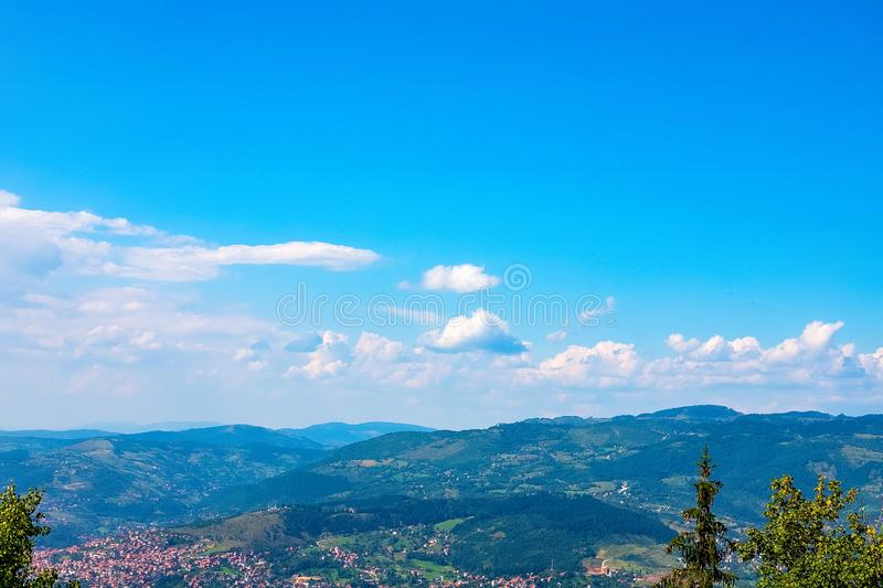 View from the top of the mountain royalty free stock images