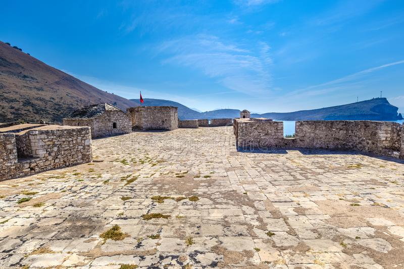 View from the top of Porto Palermo Castle. royalty free stock image