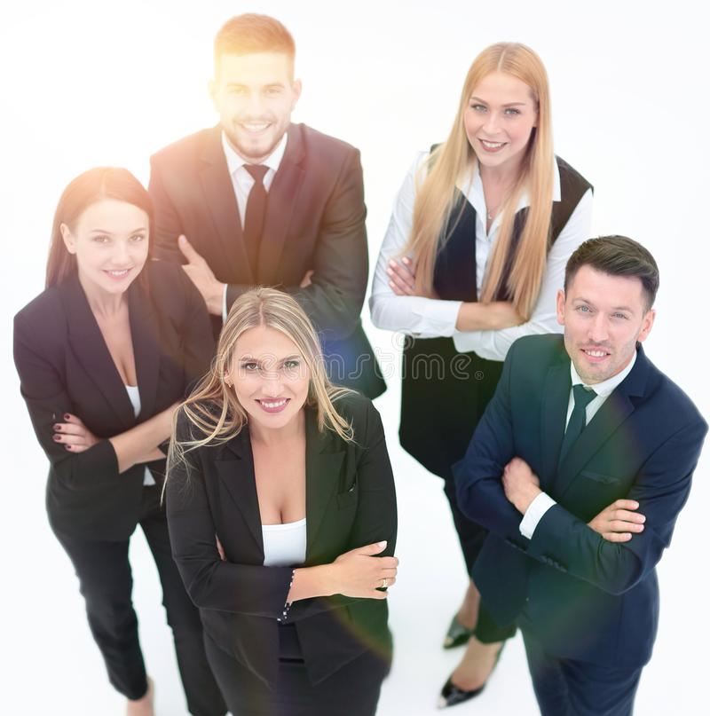 View from the top.professional group of business people. stock photography