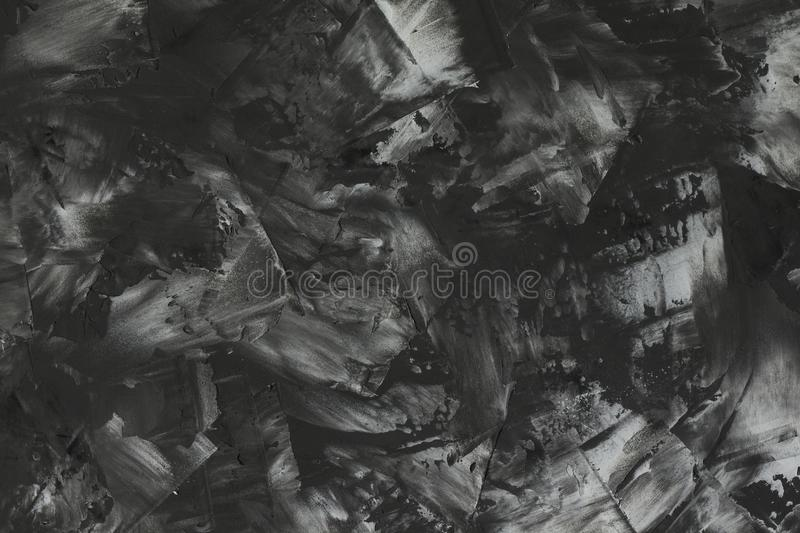 View from top to the art abstract black and white background stock images