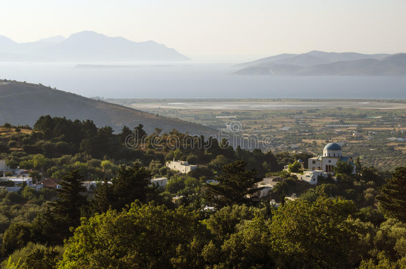 View from the top. View from zia, kos island, greece stock photo