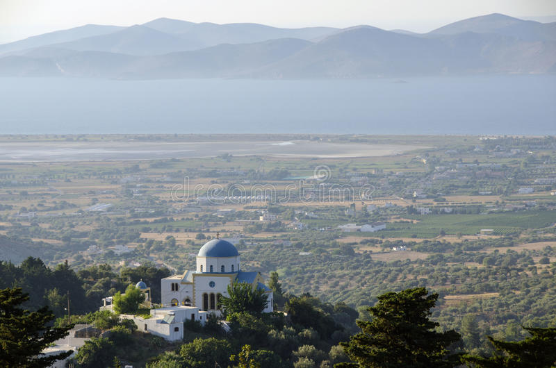 View from the top. View from zia, kos island, greece royalty free stock photography