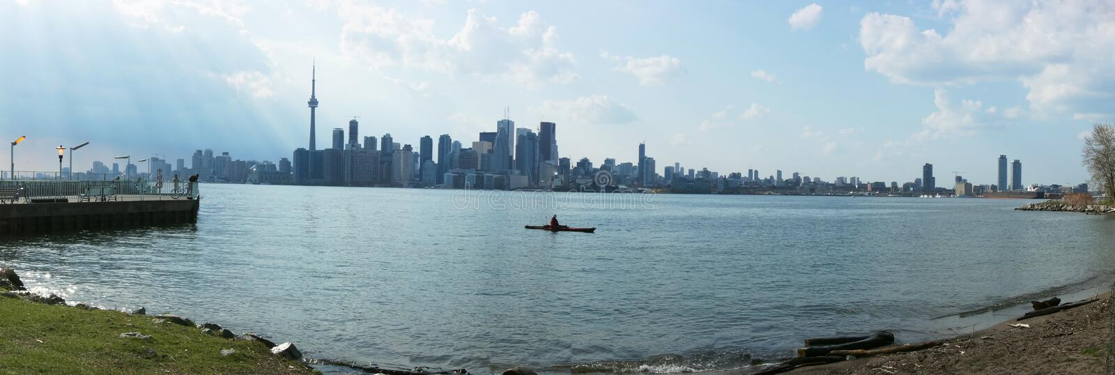 View of Toronto from Across the Lake royalty free stock photo