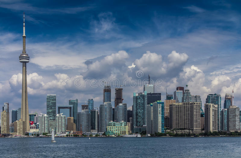 The view of Toronto City royalty free stock images
