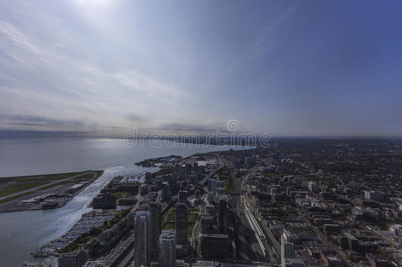 View of Toronto from the CN Tower. Toronto, Ontario, Canada royalty free stock image
