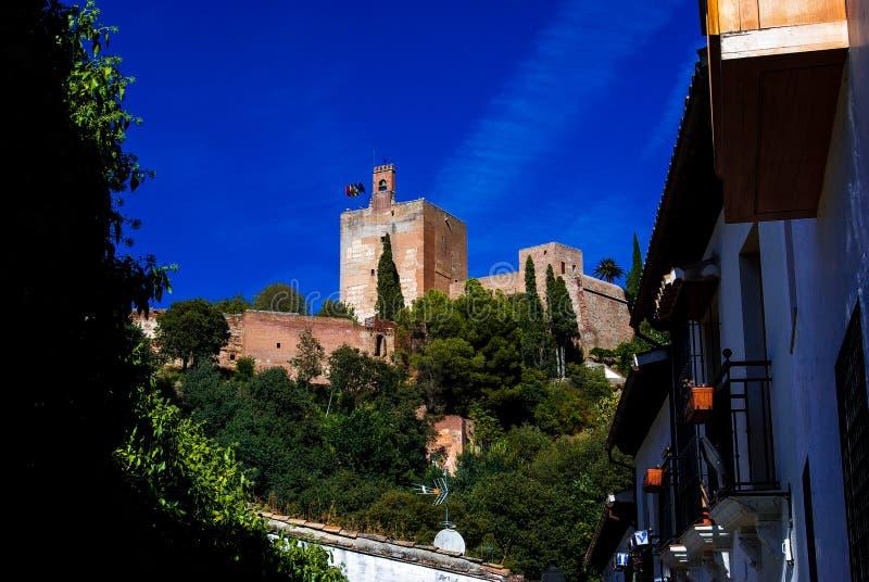 View of Torre de la Vela stock photos