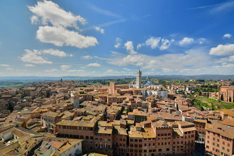 View from Torre del Mangia. Siena. Tuscany. Italy royalty free stock photos