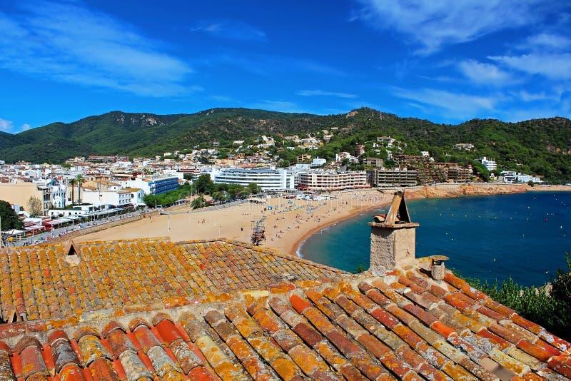 View of Tossa de Mar village stock photography