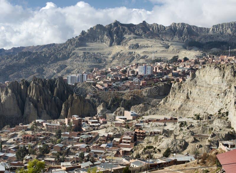 View toward El Alto in La Paz royalty free stock photos