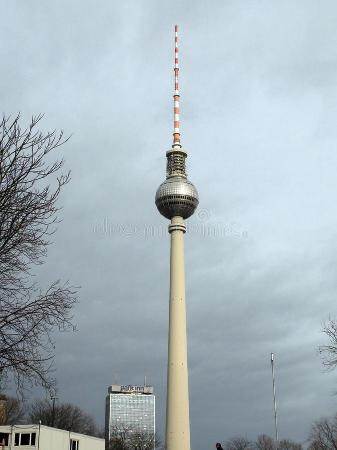 City of Berlin. Germany. Panoramas of sculptural compositions and medieval churches in the city center. stock images