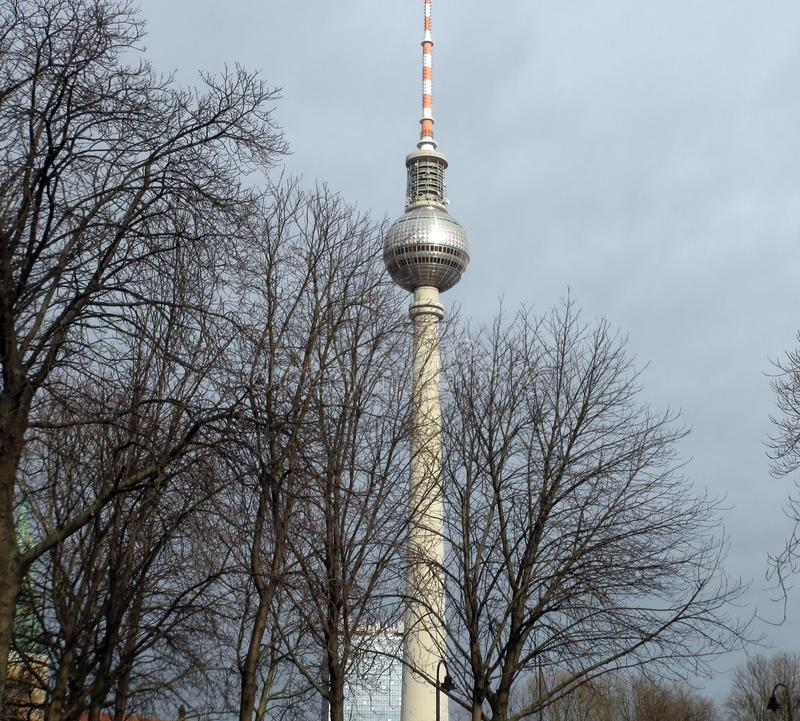 City of Berlin. Germany. Panoramas of sculptural compositions and medieval churches in the city center. stock photos