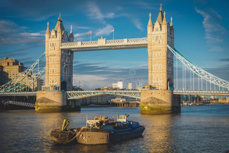Tower Bridge. London, 2017. View of Tower Bridge. London, 2017. Landscape format royalty free stock photography