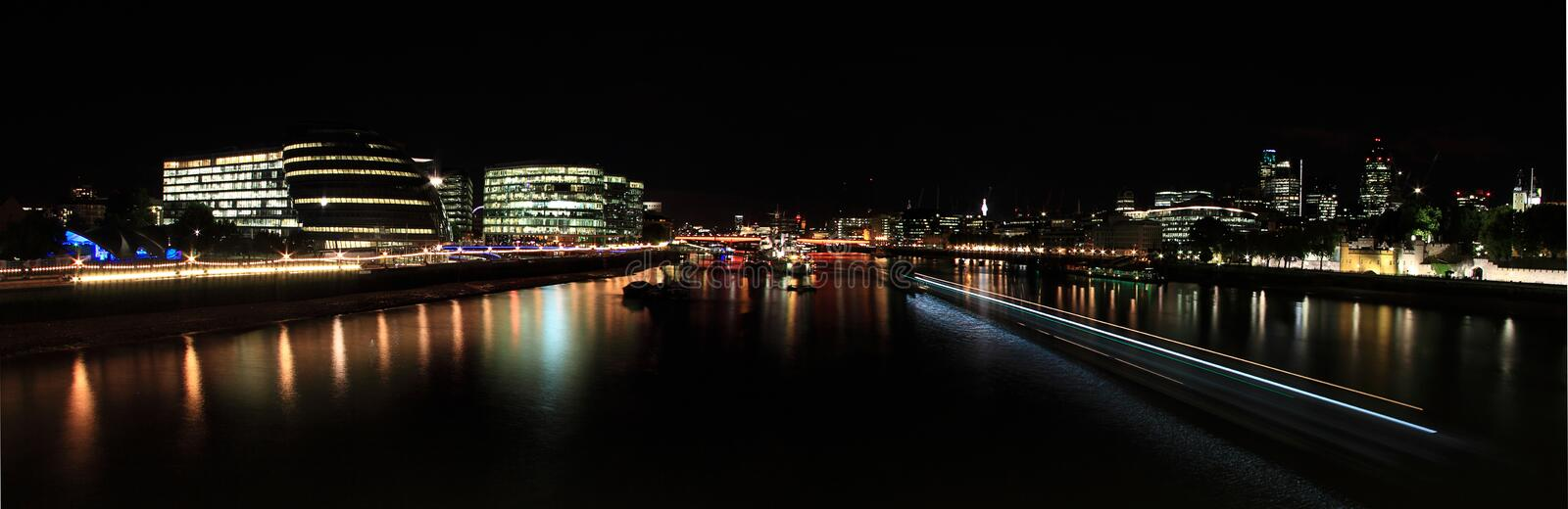 View from Tower Bridge, London. View from Tower Bridge looking West, London stock photo