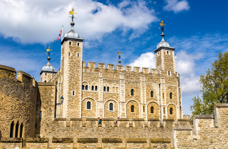 View of the Tower of London royalty free stock photography