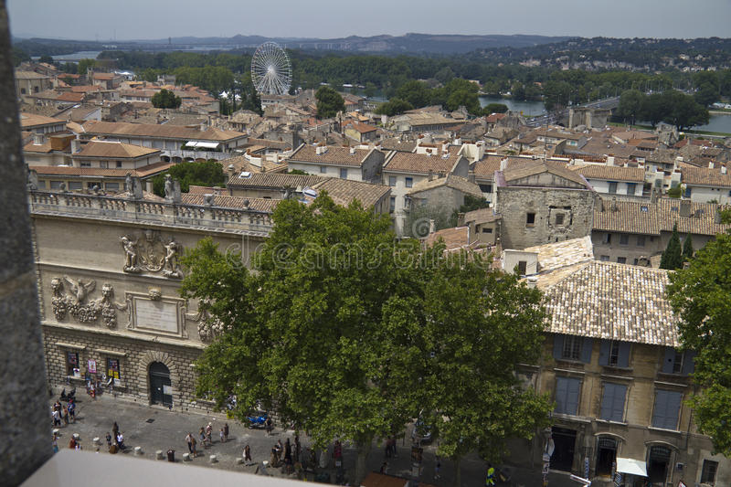 View on the town of Avignon royalty free stock image
