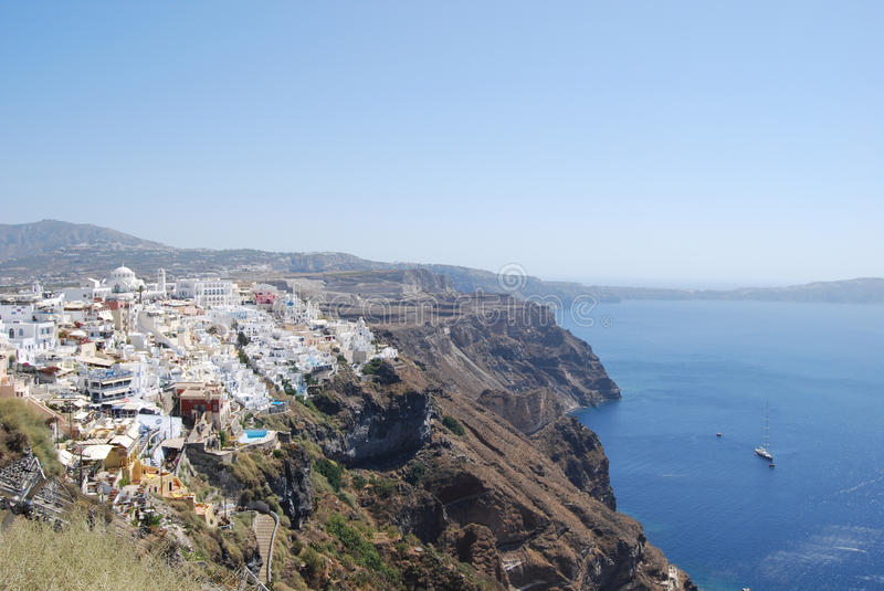 Download View Of The Town Of Fira Santorini Island Stock Image - Image: 24967727