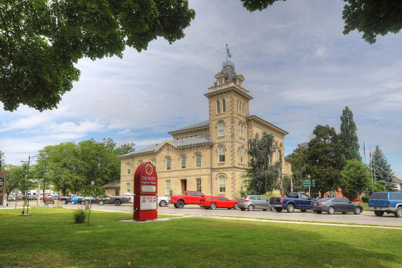 View of Town Hall in Simcoe, Ontario, Canada. A View of Town Hall in Simcoe, Ontario, Canada stock images
