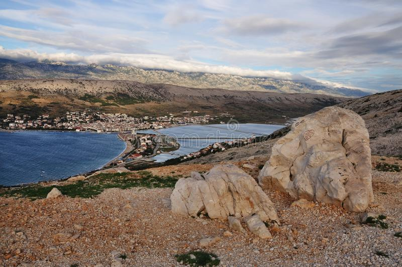 View Of The Town Of Pag Royalty Free Stock Image