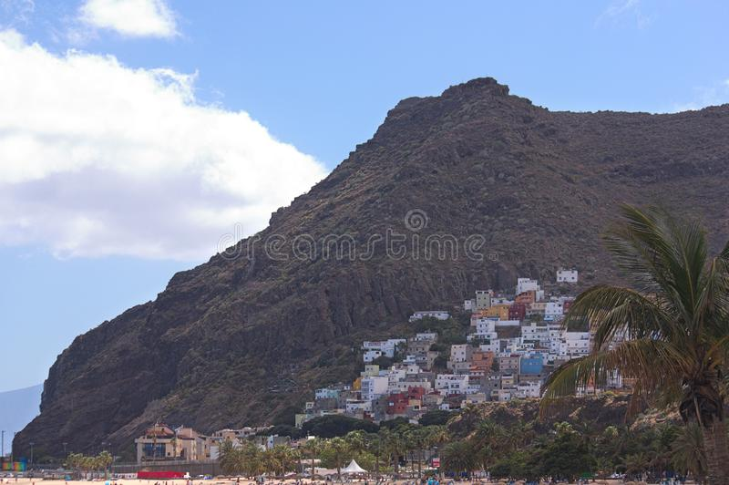 View of the town of San Andrés in Santa Cruz de Tenerife stock photography