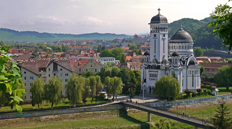 View of the town of Sighisoara stock images stock photography