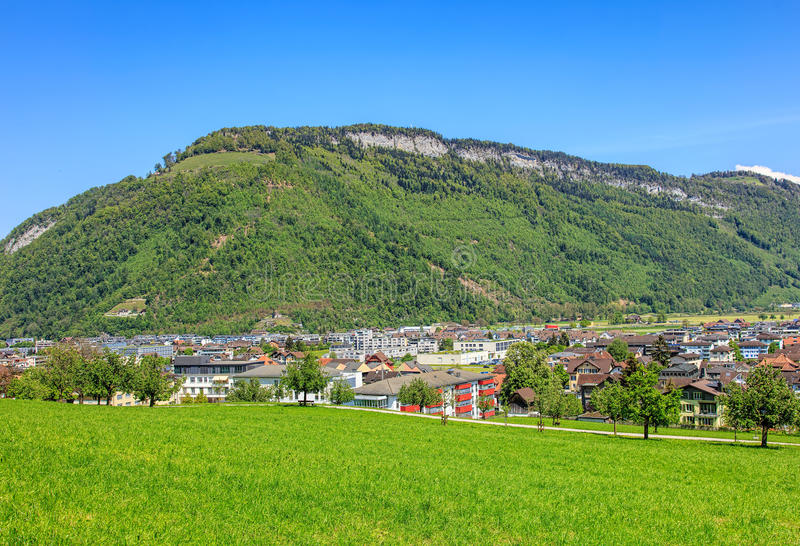 View On The Town Of Stans In Switzerland Stock Photo Image of
