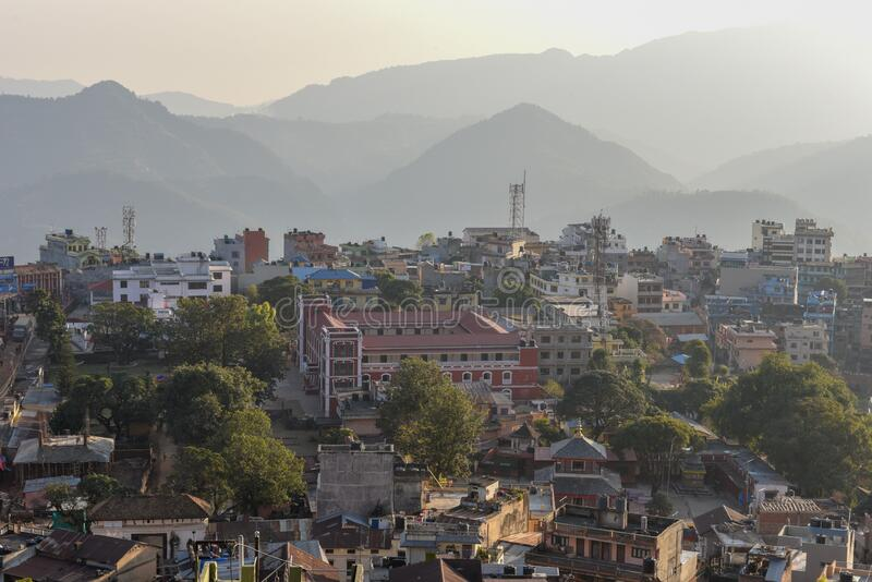 View at the town of Tansen on Nepal. View at the town of Tansen in Nepal royalty free stock photos