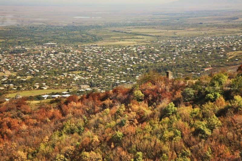 View of the town Tsnori. Georgia royalty free stock image