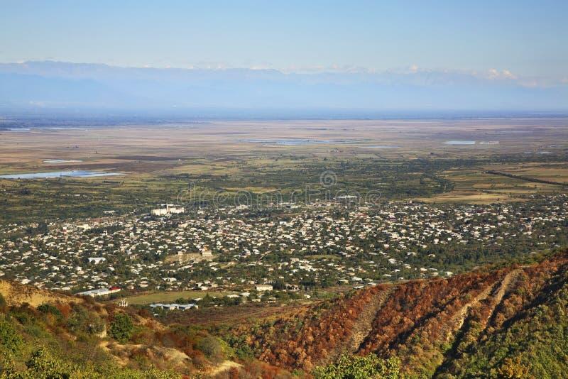 View of the town Tsnori. Georgia stock image
