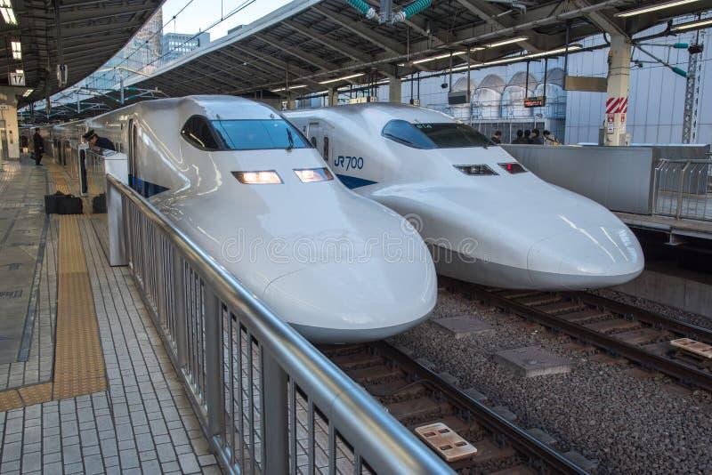 View of track of Shinkansen Bu stock image