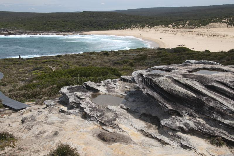 View of track to Marley beach in the Royal National Park royalty free stock photography