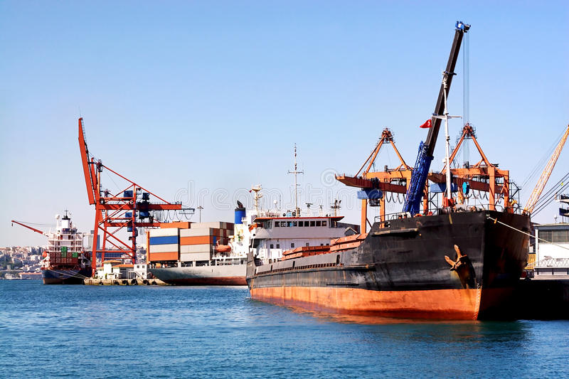Download View on trading seaport stock image. Image of loading - 10837651