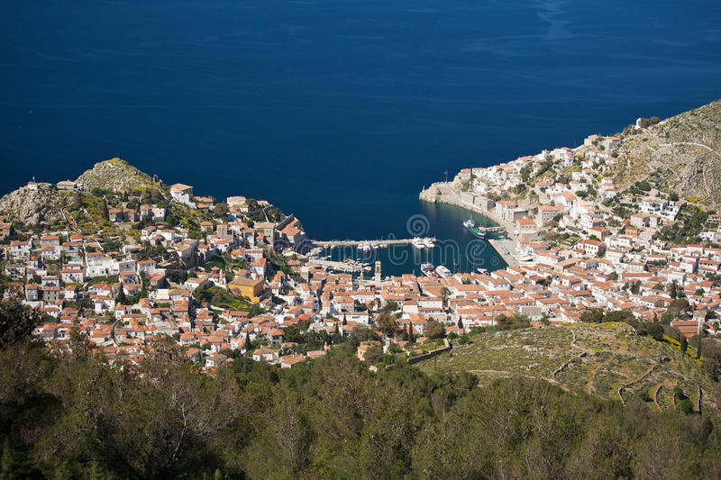 Download View Of The Traditional Greek Village From Above Stock Photo - Image: 25232742