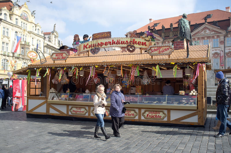Download Street market in Prague editorial stock image. Image of famous - 30125799