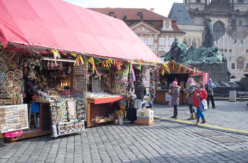 Download Street Market In Prague Editorial Stock Image - Image: 30125904