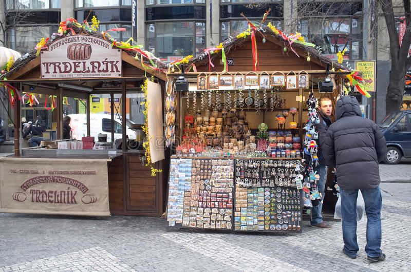 Download Street market in Prague editorial photography. Image of praha - 30126012