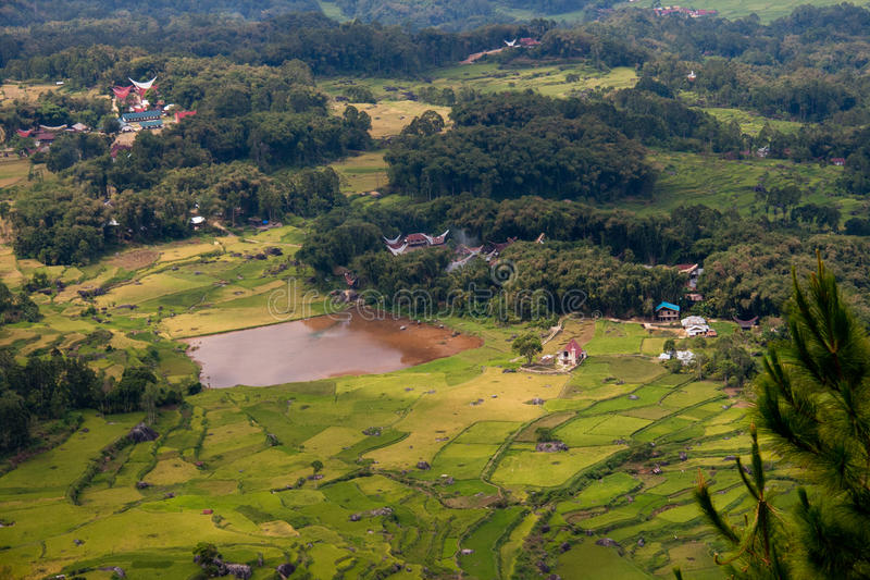 View on traditional villages in Tana Toraja. Indonesia royalty free stock photos