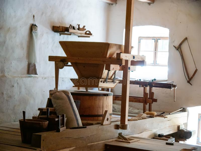 View on a traditional watermill in Szentendre royalty free stock photos
