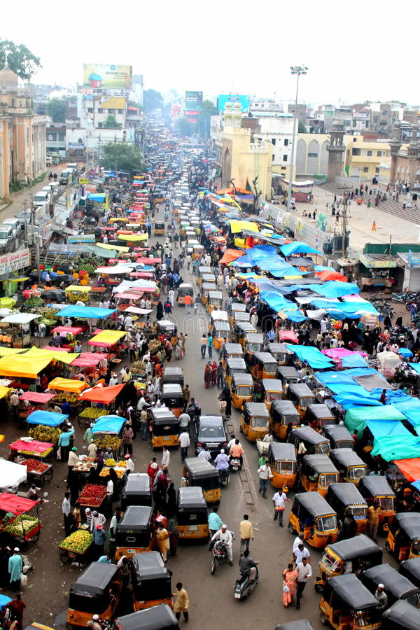Download View Of The Traffic From The Top Of Charminar Editorial Photography - Image: 21608822