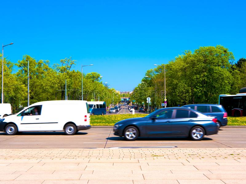 View on traffic in Vienna royalty free stock photo
