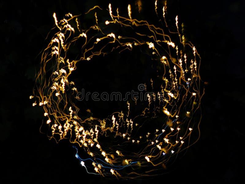 Circle of fairy lights royalty free stock photo
