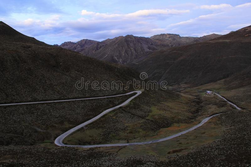 Trans-Andean Highway stock photography